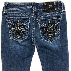 MISS ME Embellished Dark wash Jeans Size 27